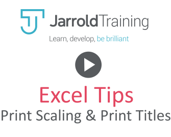 Excel Tip: Scaling & Print Titles